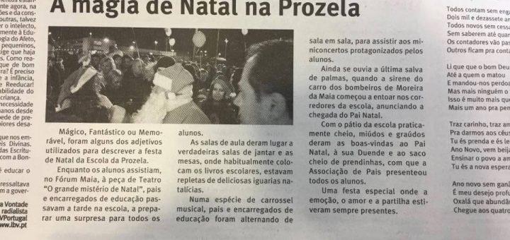 A magia de Natal na Prozela